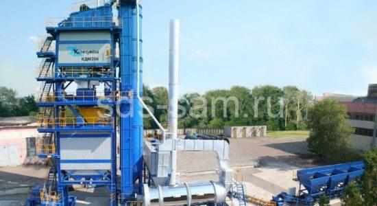 Асфальтобетонный завод КДМ 206 Кредмаш